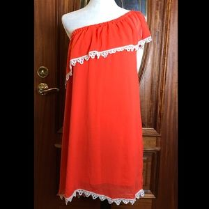Charming Charlie XL Summer Ruffle Dress